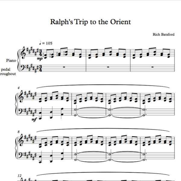 Ralph's Trip to the Orient Sheet Image